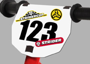 Motocross Style Numberplate